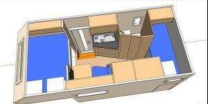 Представляем Вашему вниманию работы по очередному проекту компании Караванцентр - автодом на базе шасси MB Gelendewagen