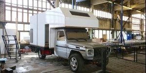 Продолжаются работы по проекту компании Караванцентр - автодом на базе шасси MB Gelendewagen